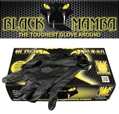 Black Mamba Nitrile Disposable Gloves Super Strong Mechanics Detailing LARGE New