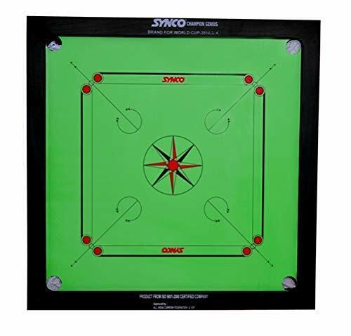 Synco Champion Green Carrom Board 20mm