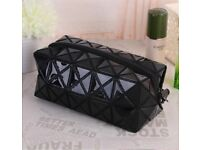 Cosmetic Make-Up Bag Travel Toiletry Bag Pouch Holder Organizer Pencil Case-bk