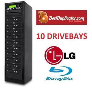 NEW BD 10 DRIVES BLU-RAY DUPLICATOR - 116692390 - Bestduplicator10 Target 16X M-Disc/BD-R/DVD/CD Blu-Ray Duplicator