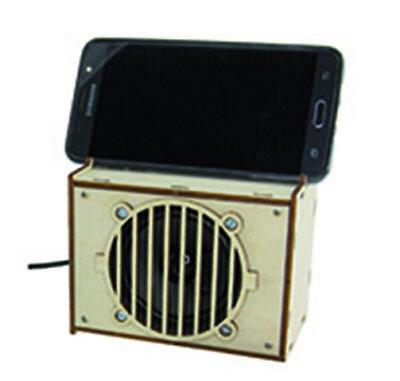 Aktivbox für Smartphones und MP3, Lötbausatz Solar-Lernspielzeug Neu