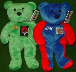 JFK and Y2K collectible bears, mint condition!