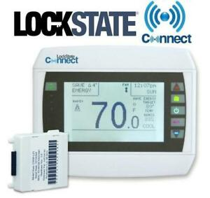 NEW LOCKSTATE CONNECT THERMOSTAT LS-90i 200725518 WIFI INTERNET PROGRAMMABLE FURNACE AC HVAC
