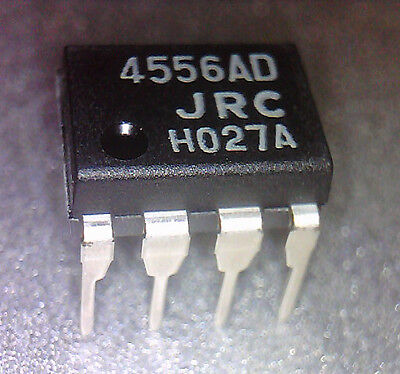 25pcs 4556ad Dual High Current Operational Amplifier. Dip-8 -2v To18v 70ma