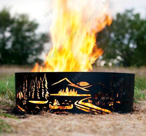 Outdoor Open Firepit Fire Pit Ring Outdoor Theme Design NIB