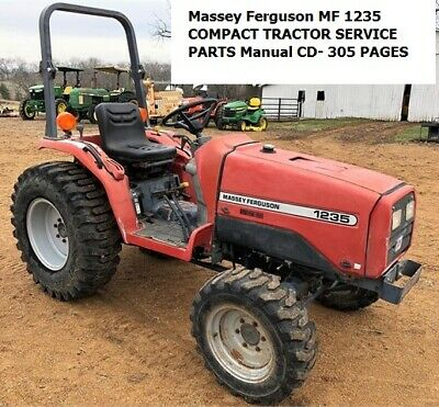 Massey Ferguson Mf 1235 Compact Tractor Service Parts Manual Cd- 305 Pages