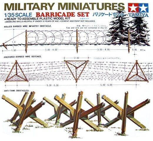 Tamiya 35027 1/35 Scale Military Miniatures Accessories Model Kit Barricade Set