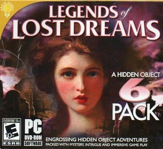 Computer Games - Legends Of Lost Dreams 6 Pack PC Games Windows 10 8 7 XP Computer hidden object