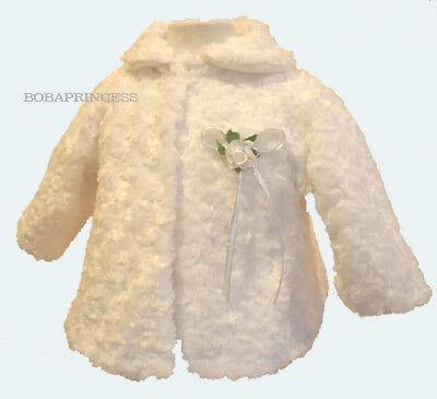NEW INFANT Girl Faux Fur Coat WHITE Sz 2 (For 1-2 Yrs - Faux Fur Coat For Girl