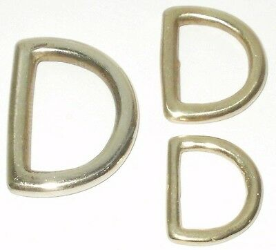 SOLID CAST BRASS D LOOPS 1 INCH 3/4 INCH 5/8 INCH SIZES 26MM - 20MM - 17MM