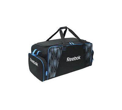 "Reebok senior ice hockey equipment bag carry 40"" black blue skate pockets New"