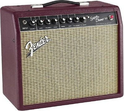 Fender Super Champ X2 Wine Red 1X10 15 Watt Tube Guitar Amplifier   Warrantied B