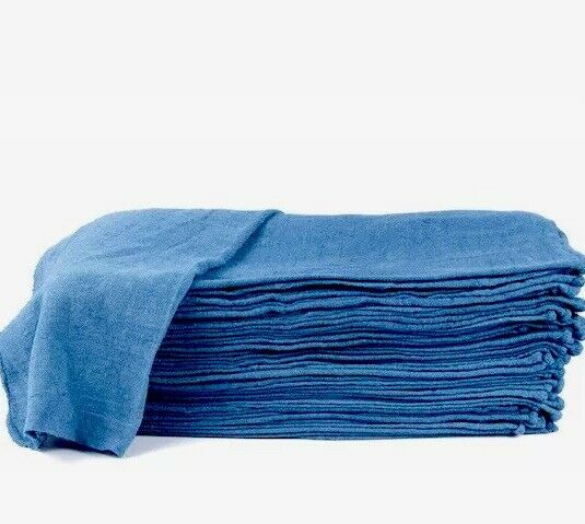 "2500 new great machinery shop rags towels blue jumbo 14""X14"""