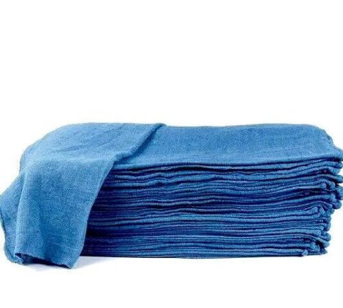 "500 new great machinery shop rags towels blue jumbo 14""X14"""
