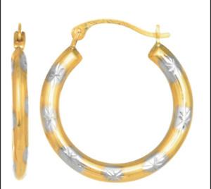 Women hoop 10k solid gold Earrings