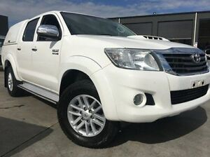 2012 Toyota Hilux KUN26R MY12 SR5 Double Cab White 5 Speed Manual Utility Invermay Launceston Area Preview