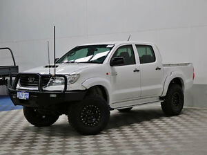 2012 Toyota Hilux KUN26R MY12 SR (4x4) White 4 Speed Automatic Dual Cab Pick-up