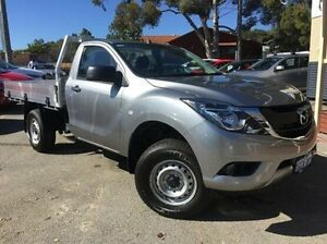 2015 Mazda BT-50 UP0YD1 XT 4x2 Hi-Rider Silver 6 Speed Sports Automatic Cab Chassis Melville Melville Area Preview