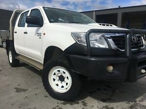 2013 Toyota Hilux KUN26R MY14 SR Double Cab White 5 Speed Manual Utility Invermay Launceston Area Preview