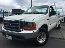 2003 Ford F350 XLT White 4 Speed Automatic Cab Chassis Doveton Casey Area Preview