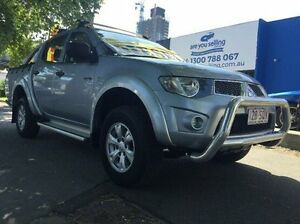 2012 Mitsubishi Triton MN MY12 GL-R Double Cab Grey 4 Speed Automatic Utility Southbank Melbourne City Preview