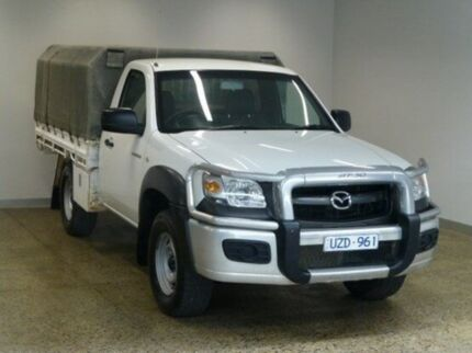 2007 Mazda BT-50 B3000 DX Cool White 5 Speed Manual Cab Chassis South Geelong Geelong City Preview