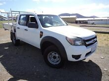 2010 Ford Ranger PK XL Crew Cab White 5 Speed Automatic Cab Chassis Derwent Park Glenorchy Area Preview
