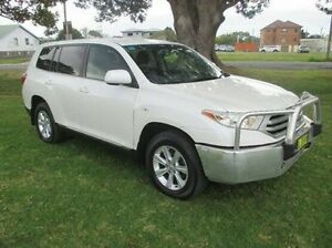 2011 Toyota Kluger GSU45R MY11 KX-R AWD White 5 Speed Sports Automatic Wagon East Kempsey Kempsey Area Preview