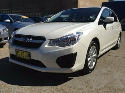 2013 Subaru Impreza G4 MY14 2.0i Lineartronic AWD White 6 Speed Constant Variable Hatchback Kings Park Blacktown Area Preview