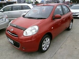 2011 Nissan Micra K13 TI Red 4 Speed Automatic Hatchback Blackburn Whitehorse Area Preview