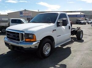 2001 Ford F250 White Automatic Cab Chassis Pakenham Cardinia Area Preview