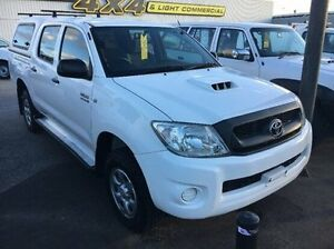 2011 Toyota Hilux KUN26R MY10 SR White 5 Speed Manual Utility Seaford Frankston Area Preview