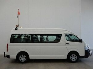 2009 Toyota Hiace KDH223R MY08 Commuter High Roof Super LWB White 5 Speed Manual Bus Braeside Kingston Area Preview