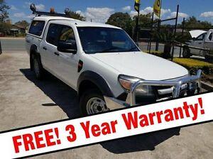 2010 Ford Ranger PK XL Crew Cab White 5 Speed Manual Utility Acacia Ridge Brisbane South West Preview