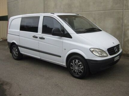 2004 Mercedes-Benz Vito 639 109CDI Crew Cab Low Roof Comp White 6 Speed Manual Van