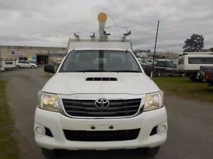 2011 Toyota Hilux White Manual Cab Chassis Pakenham Cardinia Area Preview
