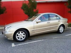 2004 Mercedes-Benz C200 Kompressor W203 MY2003 Elegance Beige 5 Speed Sports Automatic Sedan Cannington Canning Area Preview