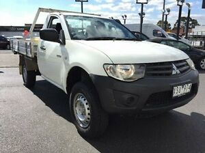 2010 Mitsubishi Triton MN MY11 GL White 5 Speed Manual Cab Chassis Heidelberg Heights Banyule Area Preview