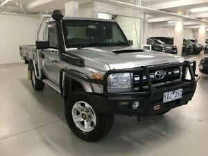 2011 Toyota Landcruiser VDJ79R MY10 GXL Silver 5 Speed Manual Cab Chassis Narre Warren Casey Area Preview