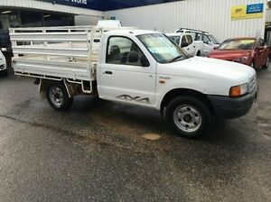 2002 Ford Courier PE GL White 5 Speed Manual Cab Chassis Wodonga Wodonga Area Preview