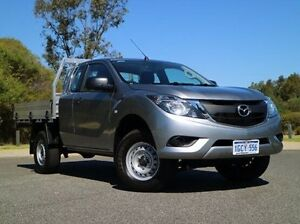 2016 Mazda BT-50 UR0YF1 XT Freestyle 4x2 Hi-Rider Silver 6 Speed Sports Automatic Cab Chassis Wilson Canning Area Preview