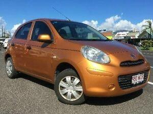 2010 Nissan Micra K13 ST Orange 5 Speed Manual Hatchback Westcourt Cairns City Preview
