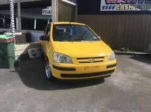 2003 Hyundai Getz TB MY04 GL Yellow 5 Speed Manual Hatchback Maidstone Maribyrnong Area Preview