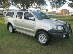 2014 Toyota Hilux KUN26R MY14 SR5 Double Cab Silver 5 Speed Manual Utility East Kempsey Kempsey Area Preview