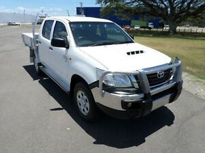 2012 Toyota Hilux KUN26R MY12 SR Double Cab White 5 Speed Manual Cab Chassis Hyde Park Townsville City Preview