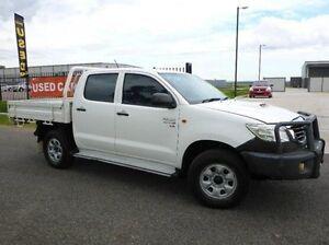2012 Toyota Hilux KUN26R MY12 SR Double Cab White 5 Speed Manual Utility Singleton Singleton Area Preview