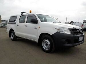 2012 Toyota Hilux White Automatic Utility Pakenham Cardinia Area Preview