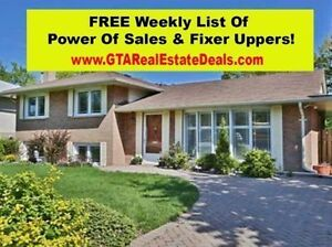 Oakville - Power Of Sales & Fixer Up Homes List Week 12 of 52