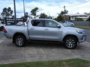 2015 Toyota Hilux GUN126R SR5 Double Cab Silver 6 Speed Sports Automatic Utility Morningside Brisbane South East Preview
