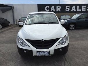 2011 Ssangyong Actyon Sports 100 Series MY11 Tradie White 6 Speed Sports Automatic Utility Maidstone Maribyrnong Area Preview
